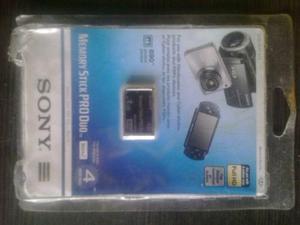 Memory Stick Pro Duo 4 Gb Sony Original De Paquete
