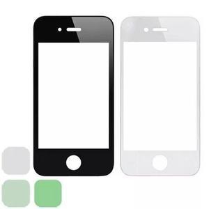 Mica Vidrio Appel Iphone 4 4s Negra Blanca Original Nuevas
