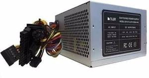 Fuente De Poder Atx 550w Power Supply Delux  Pines