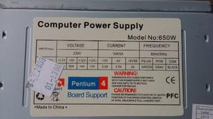Fuente De Poder Pc Atx 650 Watts Amd Intel Support
