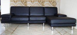 Juego De Muebles Modulares De Lujo Color Negro