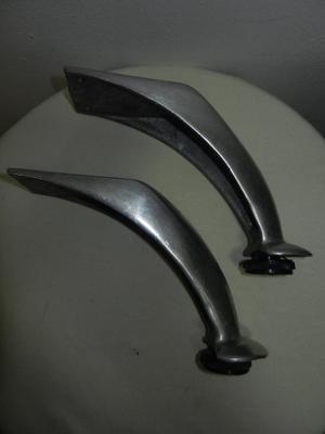 Pata Curva Cromada Para Muebles, Sofas, Etc.. De 12cm