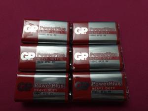 Pila Batería De 9v Gp Power Plus Heavy Duty