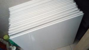 Lamina De Techo Metalica Microperforada Color Blanco