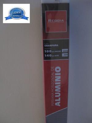 Persiana Horizontales De Aluminio 100x140 Cm Chanpaña