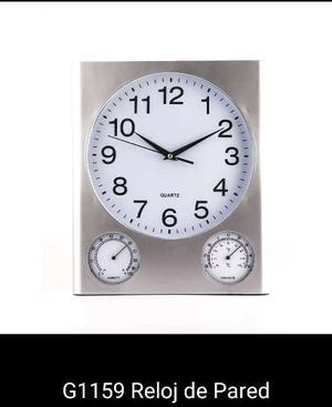 Reloj De Pared Con Medidor De Temperatura