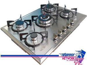 Tope De Cocina A Gas 5 Hornillas 70 Cm Inox Gplus F5-s70