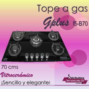 Tope De Cocina A Gas 5 Hornillas 70 Cm Vitroceramica Gplus