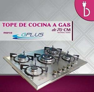 Tope De Cocina A Gas En Acero De 70 Cm Gplus