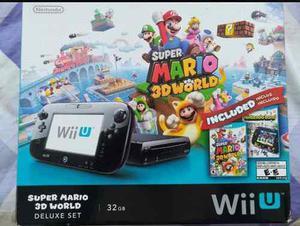 Wii U Deluxe Con 2 Juegos Originales Y 3 Controles