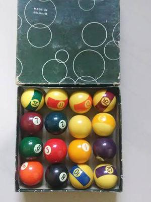 Bolas De Pool Mini Aramis Made In Belgica Caja Verde Orig