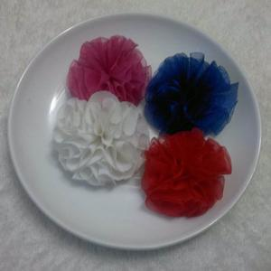 Flores De Tela Pompon Mini P/cintillos, Lazos, Tocados
