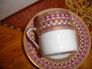 Hermoso Juego De Tazas De Cafe En Porcelana