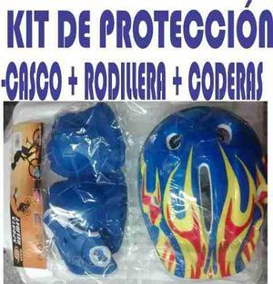 Kit De Proteccion Codera, Rodilleras Y Casco Patines Navidad