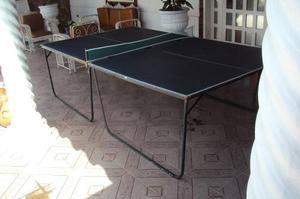 Mesa De Ping Pon Con 02 Mallas Y 02 Raqueta