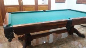 Mesa De Pool Profesional De Caoba