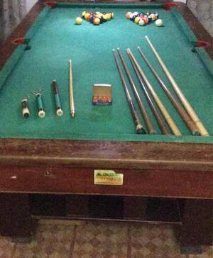 Mesa De Pool Profesional En Muy Buen Estado Con Accesorios