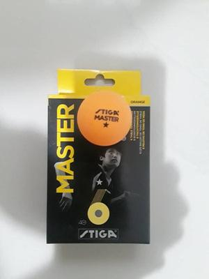 Pelotas Ping Pong Stiga Master * Anaranjadas 6 Unidades