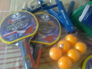 Raquetas De Ping Pong Con Set De Pelotas Y Mallas