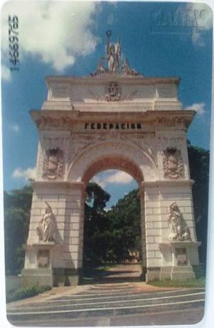 Tarjeta Cantv 1998 Arco De La Federación