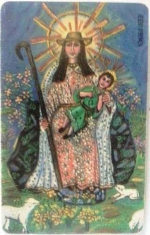 Tarjeta Cantv Usada 2001 Virgen De La Divina Pastora