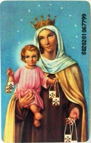 Tarjeta Cantv Usada 2002 Oración A La Virgen Del Carmen