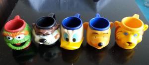 Vasos Con Cabezas De Animales Y Figuras Infantiles