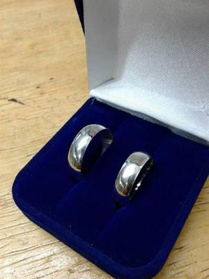 Aros De Matrimonio 6mm Liso En Plata950 !!oferta Del Mes!!