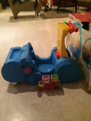 Carrito Fisher Price Hipopótamo 2 En 1