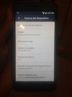Celular Android Barato Modelo Zte Blade A310 4g Lte Usado