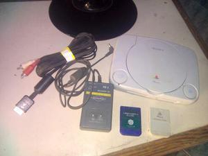 Playstation 1 + Accesorios + 3 Memorias Enciende No Lee Cds