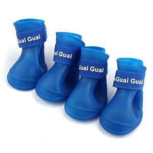 Botas Zapatos Goma Para Mascotas Tallas Pequeñas *azul*