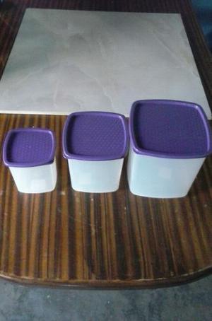 Juego Potes Plásticos De Cocina 3 Piezas