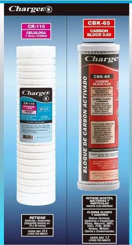 Kit Juego 2 Cartucho 10'' Charger Filtros Celulosa-carbon B
