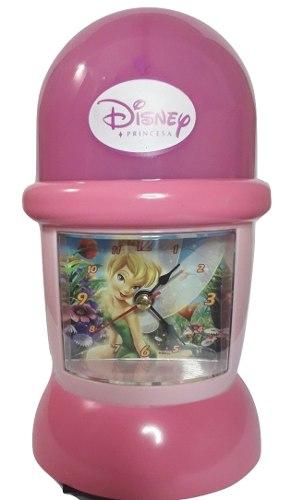 Lampara De Mesa Reloj Despertador Niña Princesa Disney Cg