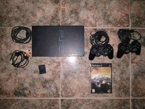 Play Station 2 + 2 Controles + 1 Juego