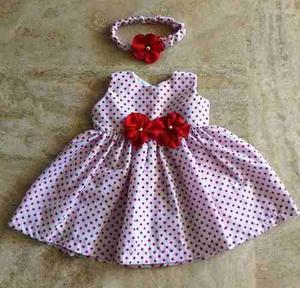 Vestidos Niña Minnie Salidas De La Clinica Talla 0 A 3