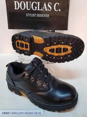 Zapatos Botas Cuero Hombr Industriales Seguridad Punta Acero