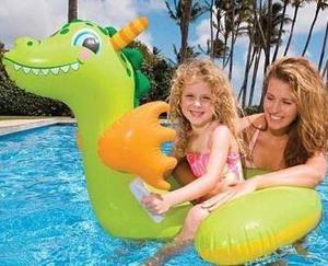 Flotador Inflable Dinosaurio Intex Para La Playa Piscina