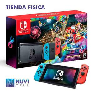 Nintendo Switch + Juego Mario Kart 8 Deluxe Tienda Chacao