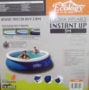 Piscina Inflable Marca Ecology Instant Up Nueva 3 X76ctm