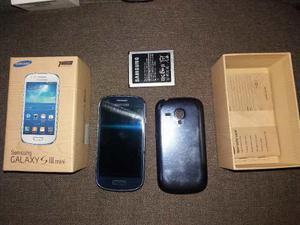 Samsung Galaxy S3 Mini  Azul Placa Mala Con Bateria Caja