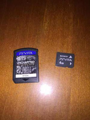 Juego Uncharted Golden Abyss Ps Vita Y Memoria 4gb