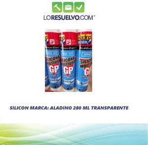 Silicon Multiuso Transparente Aladino Cartucho 280 Ml