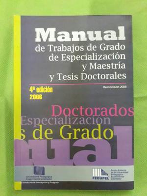 Manual Para Trabajos De Grado Tesis