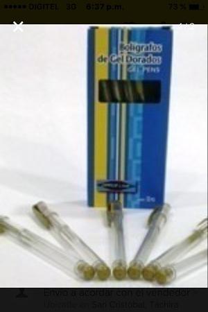 Bolígrafos Para Tarjetas De Invitacion De Gel Dorado/plat