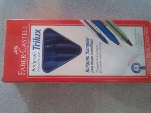 Boligrafo Faber Castell Trilux 030m Azul