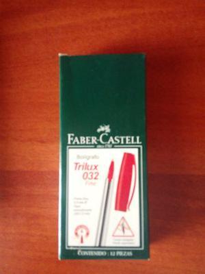 Boligrafos Faber Castell Rojo