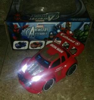 Carrito Control Remoto Avengers Iron Man Hulk Scale 1:24