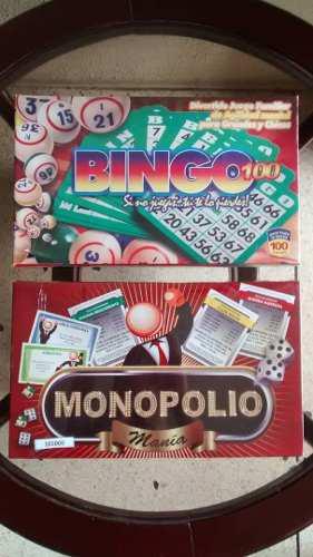 Juego De Mesa Bingo Monopolio Nuevo